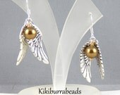 Harry Potter Golden Snitch Silver Earrings