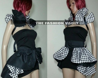 Cosplay Ringmaster Bustle Burlesque skirt and collar bolero