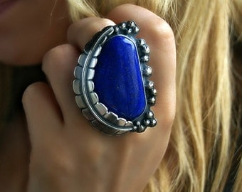 The Magic of Water - Lapis Lazuli Sterling Silver Ring