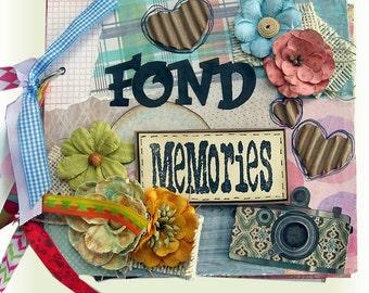 Mini Scrapbook Album, Life Scrapbook, Photo Book, Fond Memories, Life Scrapbook, Great for Birthdays, Graduations, Weddings, Anniversaries