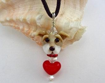 Greyhound Lover Necklace - Lampwork Bead SRA