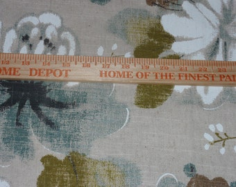 """Large Flora Upholstery Home Decor Fabric 54 Wide 25"""" Long"""