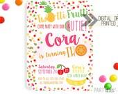Tutti Frutti Invitation | Digital or Printed | Twotti Frutti Invitation | Fruity Invitation | Twotti Fruity Invite | Fruit Invitation | Two