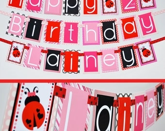 Ladybug Birthday Party Banner Fully Assembled Decorations
