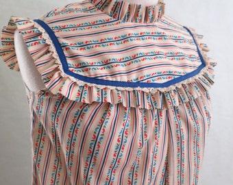 DOLLY // 70s ruffled high neck maxi dress
