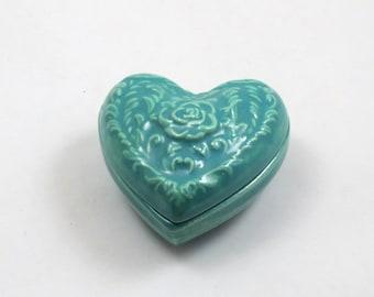 HEART BOX   Handmade ceramic Pottery slip cast