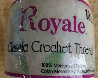 Royale classic, Crochet Thread, #10, 400 yards, 100%  cotton