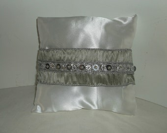 Ring bearer satin 8x8 pillow