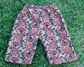 Hippie Kids pants -Size 9 mths to 1 yr.- Red Black Tan  -Boys or Girls- Read measurements