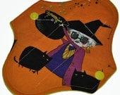 Liner Hemp Core- Mona Makes Magic Reusable Cloth Petite Pad- WindPro Fleece- 6.5 Inches