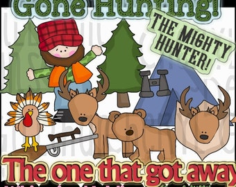 Gone Hunting Clipart Collection - Immediate Download
