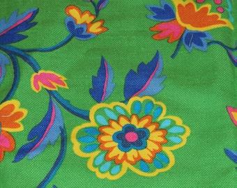 1970s Vivid Colors Fabric 49 X 51