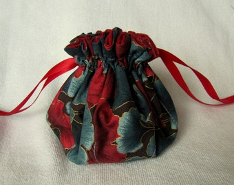 Travel Tote - Medium Size - Drawstring Jewelry Pouch - Bag for Jewelry - POPPY SEED POPPERS