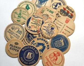 Vintage German Beer Coasters / Set of 17