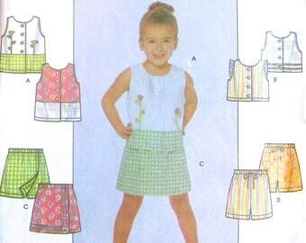 Simplicity Pattern - Top, Shorts, Skort, Girl's sizes 3-8