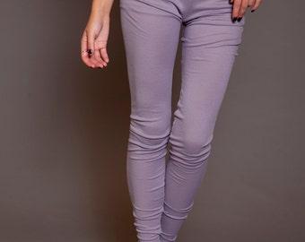Japanese cotton rib leggings