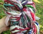 BIG Art Yarn 87 yd and 6.5 oz skein  homespun, handmade, handspun yarn. Super soft and bulky, multicolored ooak.