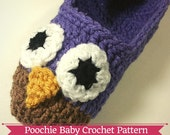 PATTERN - Crochet Owl Slippers for Teens/Women