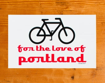 Bike for the Love of Portland | Sticker