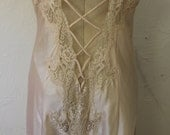 Vintage Honeymoon Negligee with Lace up Back