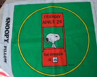 "Craft Supply Sewing Pillowcase Project ""Snoopy"" Snoopy Pillow to Stitch"