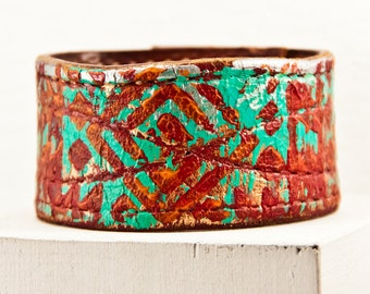 Original Unique Bracelets - Hippie Bohemian Gypsy Jewelry - Primitive Rustic Leather Cuffs for Women