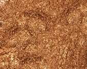 Bronze Shimmer Mica 1 Oz or 4 Oz, Bronze Sparkle Mica, Bronze Pearl Mica , Cosmetic Supply, Makeup Supply
