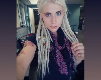 25 Synthetic dreads, synthetic dreadlock extensions, dreadlocks, dreads, synthetic dreadlocks, dreadlock extensions, dread, hair extensions