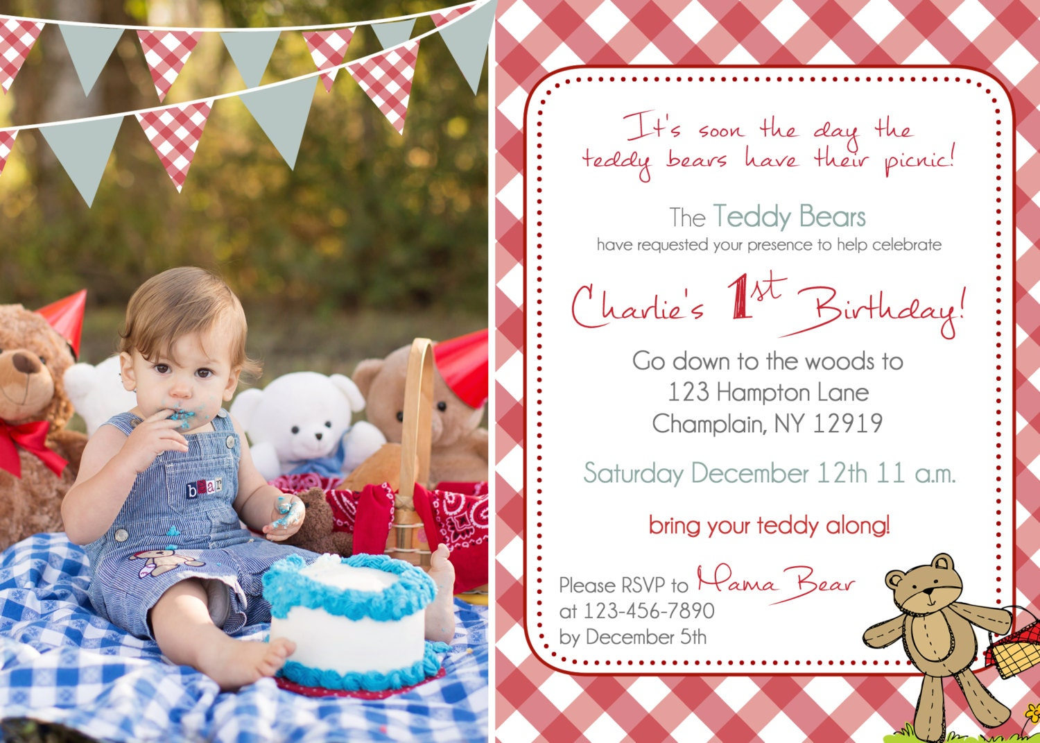 Teddy bears picnic – Teddy Bears Picnic Party Invitations