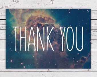 Printable Thank You Card - Galaxy INSTANT DOWNLOAD