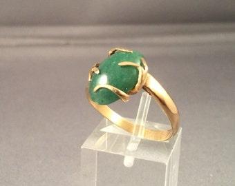 14k Gold Ring with Avenenturine
