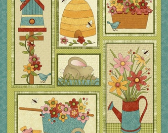 NEW Garden Days Spring Fabric Bundle Quilt Craft Fat Quarter Bundle- The Panel