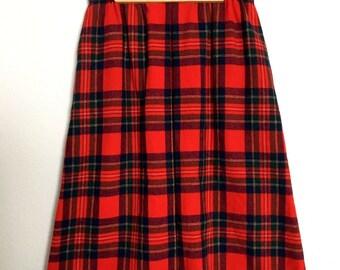 Vintage Pendleton Royal Stewart Tartan Wool Skirt, Vintage Size 10