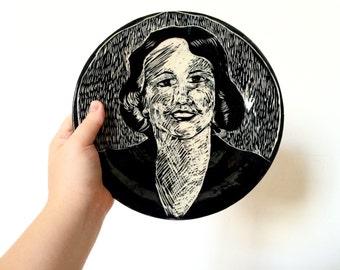 Sylvia Plath Dinner Plate
