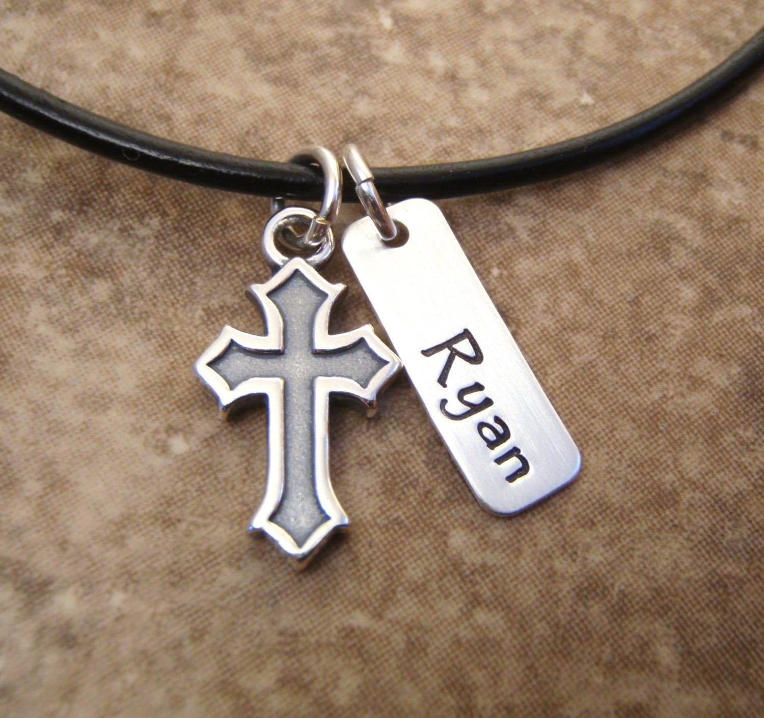 boy s name and cross necklace boy s communion