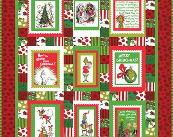 Dr. Seuss Merry Grinchmas Quilt / The Grinch Quilt / Handmade Holiday Quilt / RARE OOP / Last One in Stock