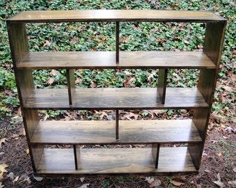 Bookcase or Room Divider Hardwood Open Back