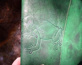 Feeling Froggy Handmade Tree Frog Leather Journal FREE Personalization