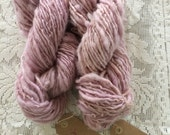 Yarn, Handspun, Natural Dyed, Maine Island Wool, Single Ply, Worsted Weight, Lac