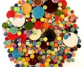 1 lb Mixed Bag Mosaic Circle Tiles - High Fired