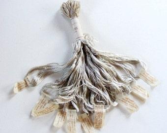 Antique 1900's Silk Embroidery Floss Brainerd Roman Floss Lead Gray