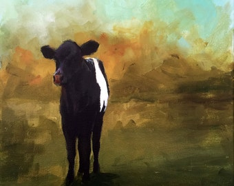 Lone Beltie - Original Painting by Cari Humphry