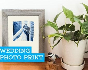 Wedding Photo Print, Custom Wedding Gift, Wedding Art, Wedding Photo Print