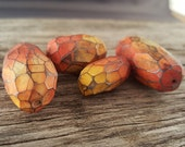 Sunset Facet Polymer Clay Beads