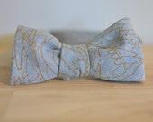 SALE - Nana handmade blue chambray modern bow tie