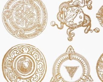 Antique Celtic Decals for Glass or Ceramic