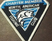SALE North American Fishing Club patch embroidered fish boho grunge uniform