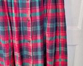 SALE Talbot's punk plaid tartan skirt schoolgirl kinderwhore goth steampunk crest preppy normcore 10