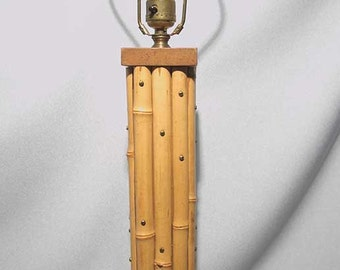 Vintage 1950s 50s Bamboo Lamp, REALLY COOL