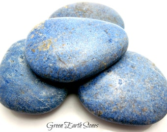 1 Dumortierite Smooth Palm Stone, Blue, Crystals, Feng Shui, Reiki, Gemstones,